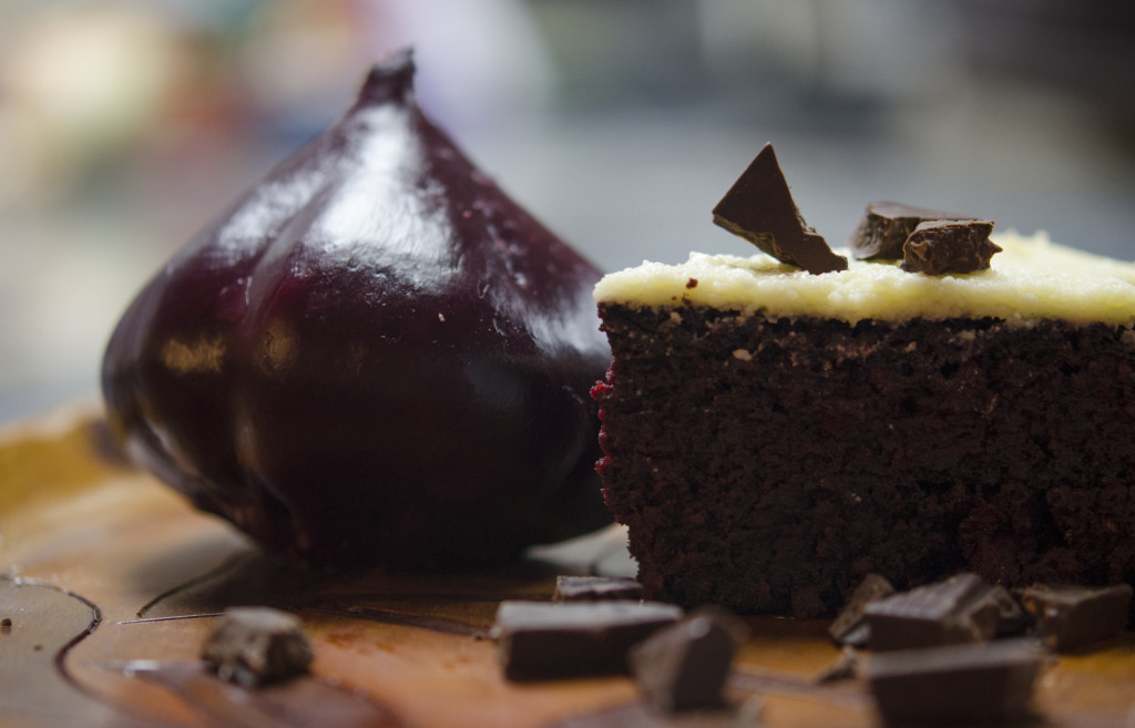 The Crown Arts | Decadent Polish Beet Cake with White Chocolate Butter Frosting